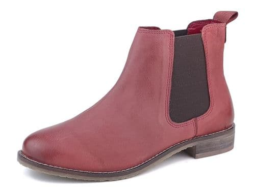 Frank James - Aintree 3167 Red Nubuk Leather Chelsea Boots